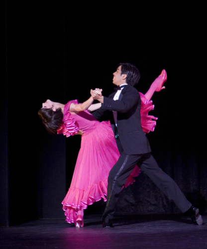 <p><em>Nine Sinatra Songs: </em>Laura Purkiss and Jonathan Caguioa in 'Forget Domani'</p>. Credit: Bill Cooper.