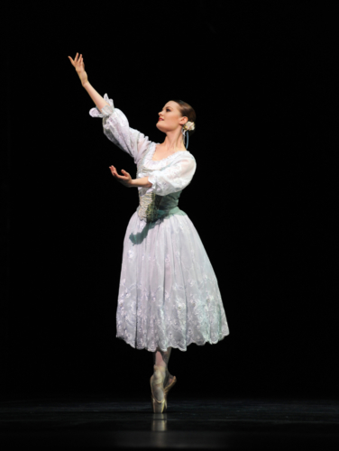 <p><em>Coppélia: </em>Delia Mathews in 'Prayer'</p>. Credit: Roy Smiljanic.