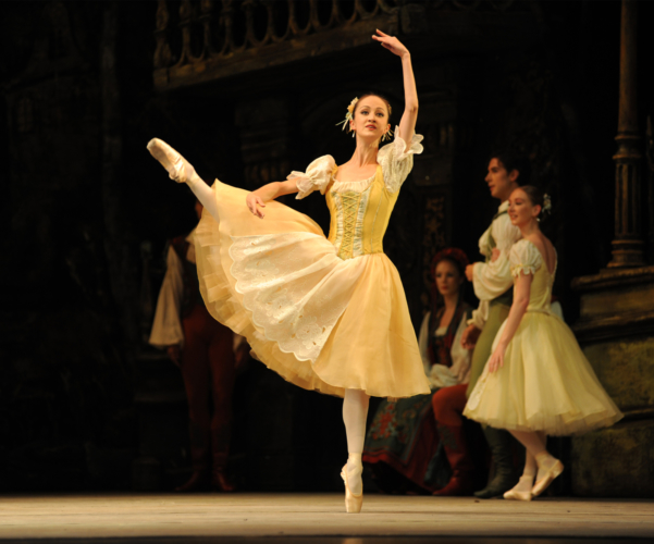 <p><em>Coppélia:</em> Laura Purkiss as one of Swanilda's Friends</p>. Credit: Roy Smiljanic.