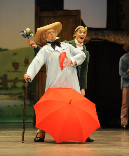 <p><em>La Fille mal gardée: </em>Jonathan Payn as Thomas and Robert Gravenor as Alain</p>. Credit: Roy Smiljanic.