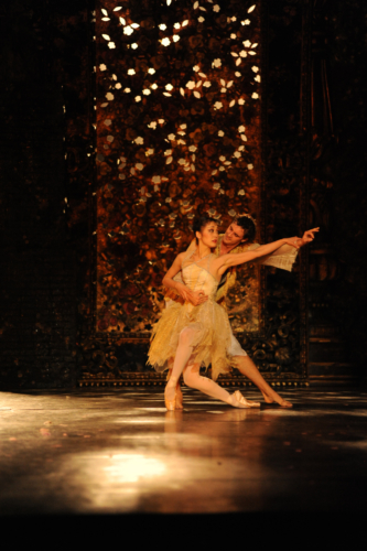 <p><em>Beauty and the Beast:</em> Nao Sakuma as Belle and Iain Mackay as the Prince</p>. Credit: Roy Smiljanic.