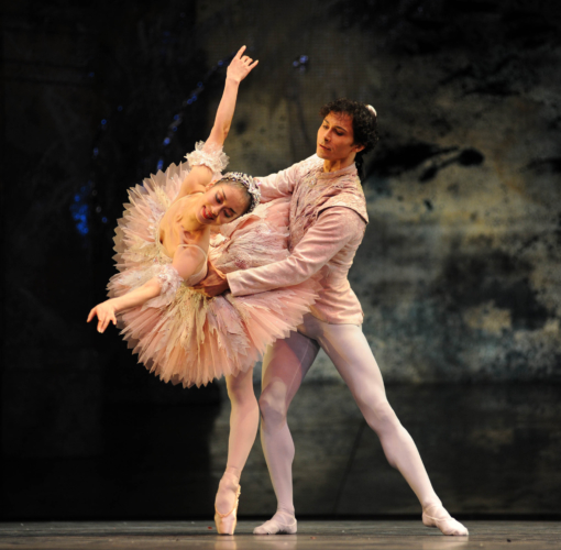 <p><em>The Nutcracker: </em>Nao Sakuma as the Sugar Plum Fairy and César Morales as the Prince</p>. Credit: Roy Smiljanic.