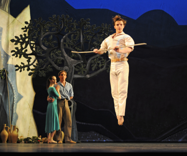 <p><em>Daphnis and Chloë: </em>Joseph Caley as Daphnis</p>. Credit: Roy Smiljanic.