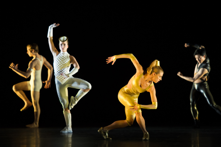 <p><em>Faster: </em>Victoria Marr with Artists of Birmingham Royal Ballet</p>. Credit: Bill Cooper.