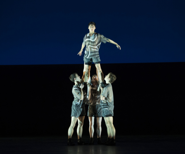 <p><em>Faster: </em>Tzu-Chao Chou with Mathias Dingman, James Barton and Oliver Till</p>. Credit: Bill Cooper.