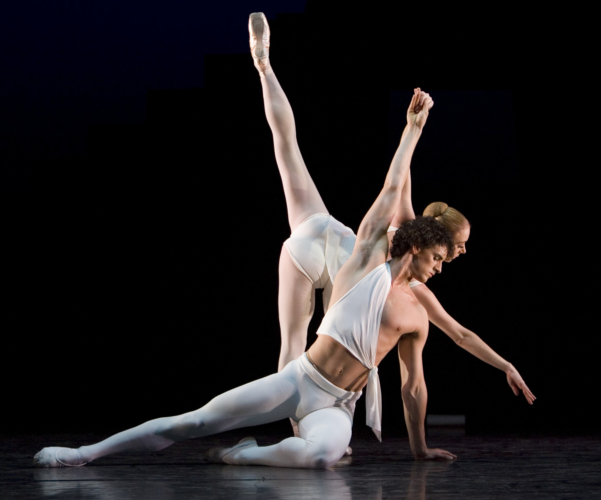 <p><em>Apollo: </em>Elisha Willis as Terpsichore and Iain Mackay as Apollo</p>. Credit: Bill Cooper.