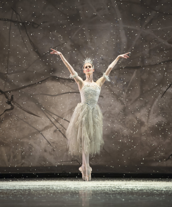 <p><em>The Nutcracker: </em>Samara Downs as the Snow Fairy</p>. Credit: Bill Cooper.