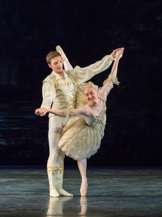 <p><em>Coppélia: </em>Elisha Willis as Swanilda and Joseph Caley as Franz</p>. Credit: Andrew Ross.