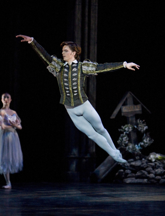 <p><em>Giselle: </em>Joseph Caley as Albrecht</p>. Credit: Bill Cooper.