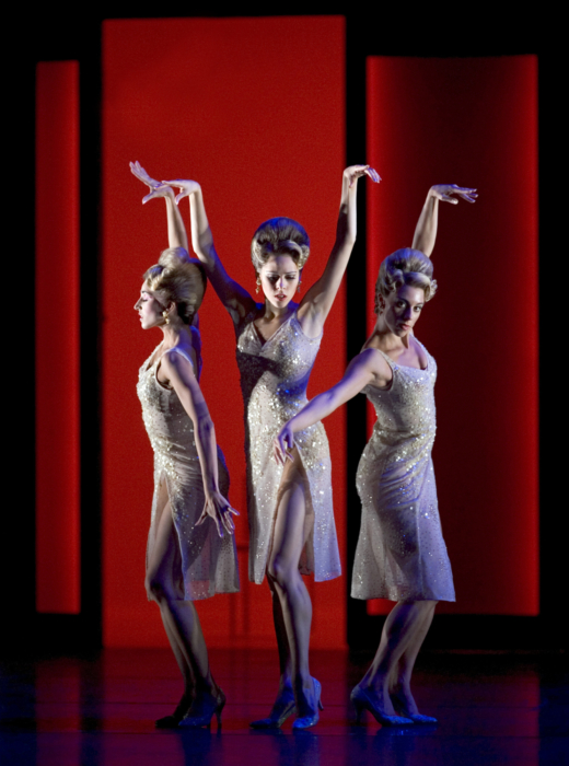 <p><em>The Orpheus Suite:</em> Angela Paul, Samara Downs and Victoria Marr as the Moisturisers</p>. Credit: Bill Cooper.