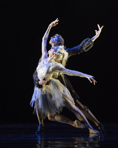 <p>The King Dances: William Bracewell as Le Roi and Yijing Zhang as Selene, la Lune</p>. Credit: Bill Cooper.