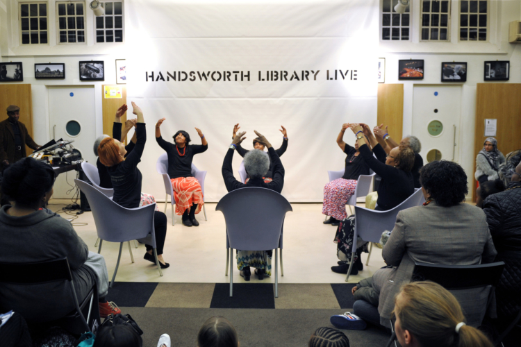 """Ballet-what's that?"""" project. Handsworth Library event 15 February 2014. Credit: Phil Hitchman."""