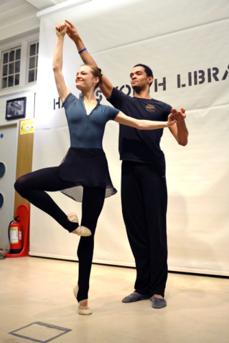 "Ballet-what's that?"" project. Handsworth Library event 15 February 2014. Credit: Phil Hitchman."