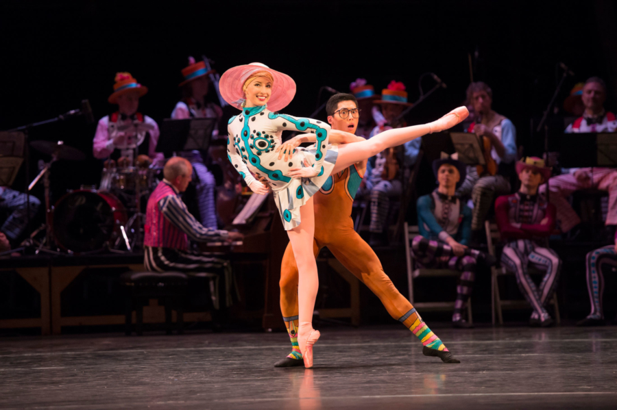 Birmingham Royal Ballet - Elite Syncopations; Callie Roberts and Tzu-Chao Chou. Credit: Bill Cooper.