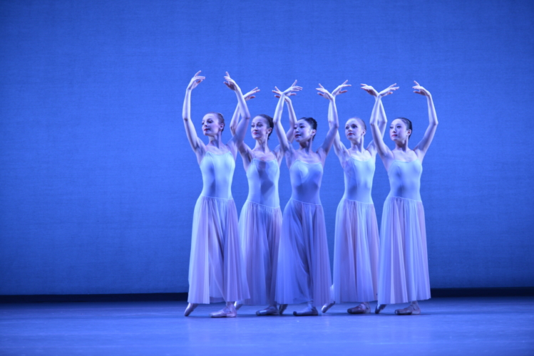 <p>Serenade: Karla Doorbar with Artists of Birmingham Royal Ballet</p>. Credit: Phil Hitchman.