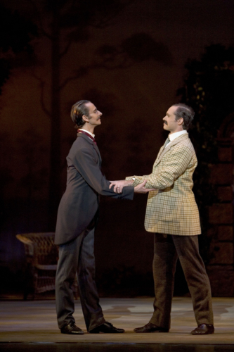 Enigma Variations: Valentin Olovyannikov as A. J. Jaeger and Jonathan Payn as Edward Elgar. Credit: Bill Cooper.