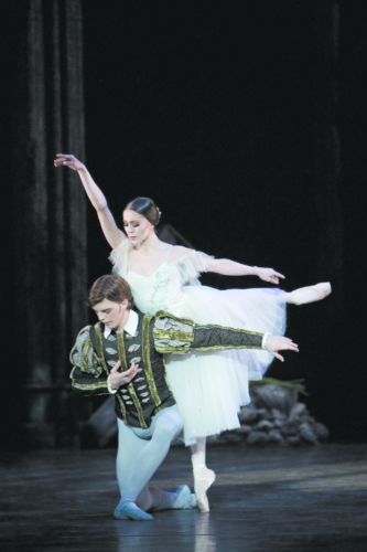 Giselle: Ambra Vallo as Giselle and Joseph Caley as Albrecht. Credit: Bill Cooper.