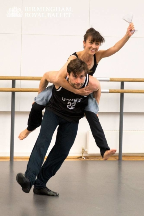 <p><em>The Shakespeare Suite: </em>Jonathan Caguioa and Momoko Hirata in rehearsal</p>. Credit: Andrew Ross.