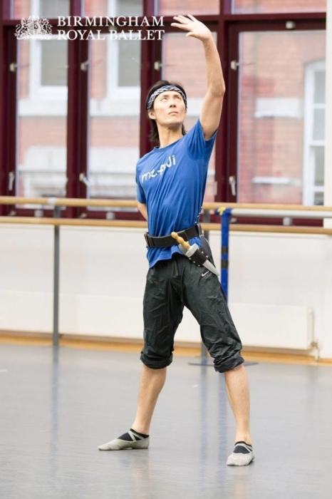 <p><em>The Shakespeare Suite: </em>Yasuo Atsuji in rehearsal</p>. Credit: Andrew Ross.