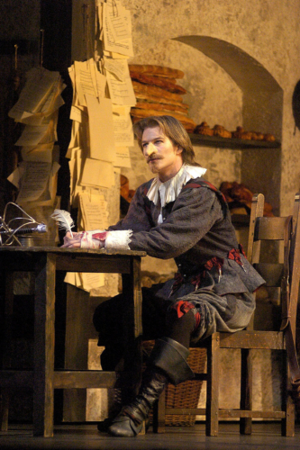 <p><em>Cyrano: </em>Robert Parker as Cyrano</p>. Credit: Roy Smiljanic.