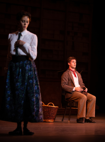 <p><em>Hobson's Choice</em>: Samara Downs as Maggie Hobson and Lachlan Monaghan as Will Mossop</p>. Credit: Ty Singleton.
