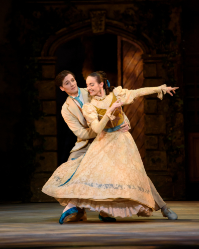 <p><em>Enigma Variations</em>: Arancha Baselga as Isabel Fitton and Jamie Bond as Richard P. Arnold</p>. Credit: Bill Cooper.