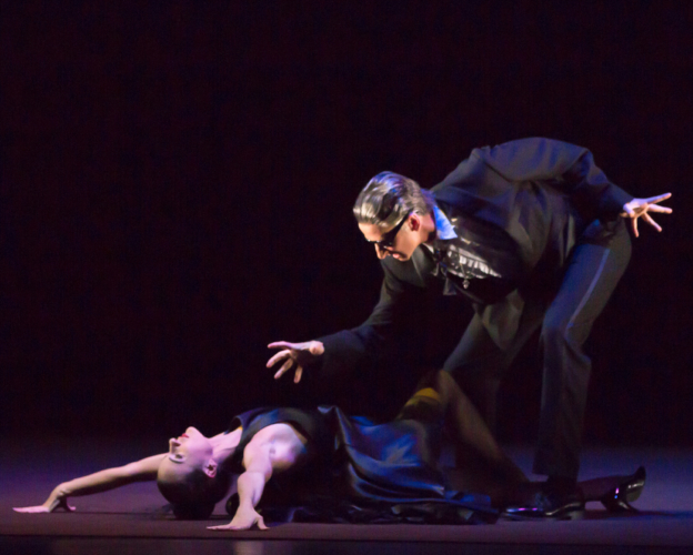 <p><em>The Shakespeare Suite</em>: Arancha Baselga as Lady Anne and Valentin Olovyannikov as Richard III</p>. Credit: Andrew Ross.