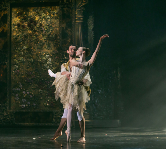 <p><em>Beauty and the Beast</em>: Yvette Knight as Belle and Brandon Lawrence as the Beast</p>. Credit: Dasa Wharton.