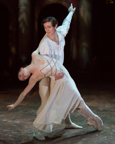 <p><em>Romeo and Juliet</em>: Delia Mathews as Juliet and William Bracewell as Romeo</p>. Credit: Andrew Ross.