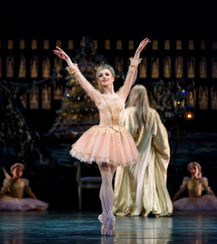<p><em>Coppélia</em>: Karla Doorbar as Dawn</p>. Credit: Bill Cooper.
