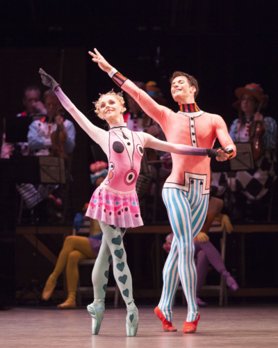 <p><em>Elite Syncopations</em>: Karla Doorbar and Mathias Dingman in The Golden Hours</p>. Credit: Caroline Holden.