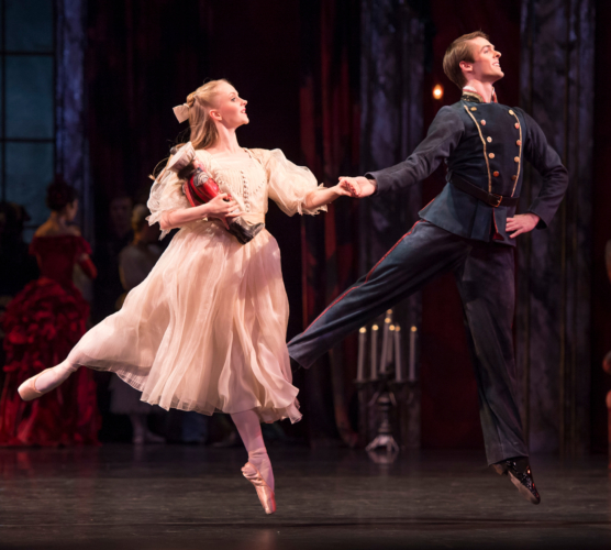 <p><em>The Nutcracker</em>: Karla Doorbar as Clara and Lachlan Monaghan as her Dancing Partner</p>. Credit: Bill Cooper.
