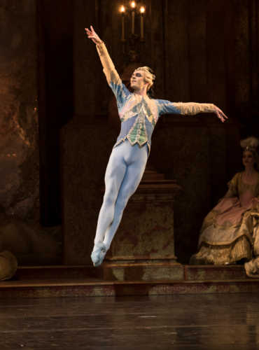 <p><em>The Sleeping Beauty</em>: Lachlan Monaghan as Blue Bird</p>. Credit: Bill Cooper.