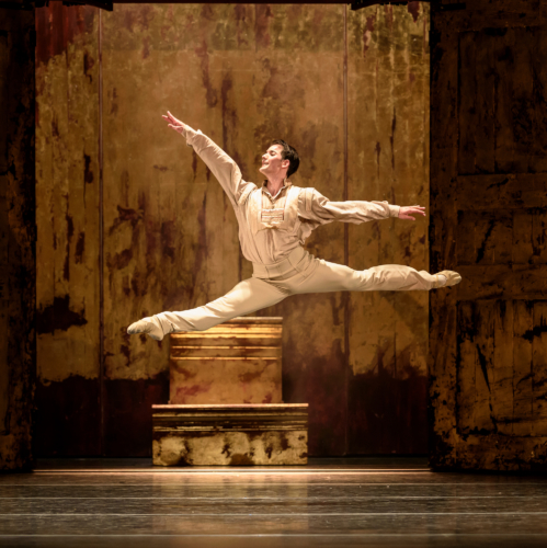 <p><em>Le Baiser de la fée</em>: Mathias Dingman as the Young Man</p>. Credit: Bill Cooper​.