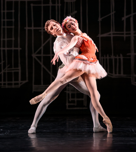 <p><em>Solitaire</em>: Miki Mizutani as the Girl and Feargus Campbell</p>. Credit: Bill Cooper.