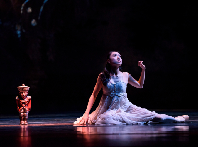 <p><em>The Nutcracker</em>: Miki Mizutani as Clara</p>. Credit: Bill Cooper.