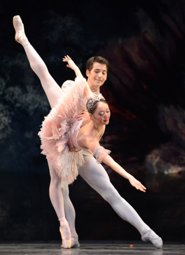 <p><em>The Nutcracker</em>: Miki Mizutani as the Sugar Plum Fairy and Mathias Dingman as the Prince</p>. Credit: Roy Smiljanic.