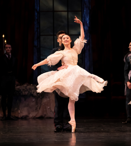 <p><em>The Nutcracker</em>: Miki Mizutani as Clara and Aitor Galende as her dancing Partner</p>. Credit: Emma Kauldhar.