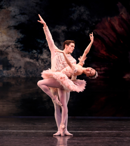 <p><em>The Nutcracker</em>: Yaoqian Shang as the Sugar Plum Fairy and William Bracewell as the Prince</p>. Credit: Bill Cooper.