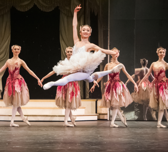 <p><em>The Nutcracker</em>: Yaoqian Shang as the Rose Fairy</p>. Credit: Drew Tommons.