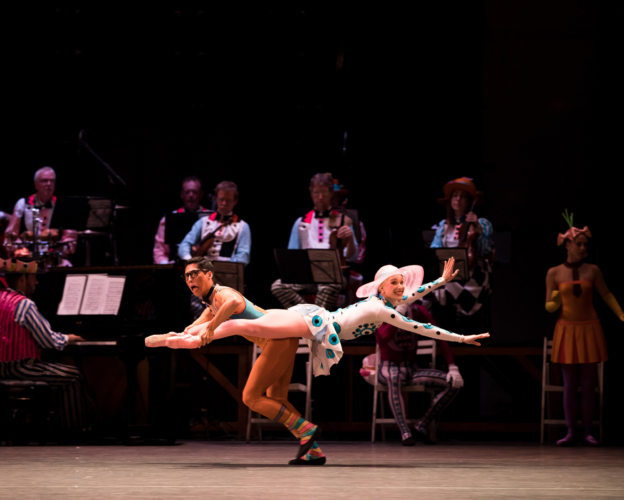 <p><em>Elite Syncopations</em>: Yvette Knight and Tzu-Chao Chou in The Alaskan Rag</p>. Credit: Andrew Ross.