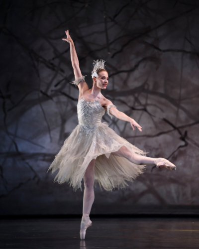 <p><em>The Nutcracker</em>: Yvette Knight as the Snow Fairy</p>. Credit: Bill Cooper​.