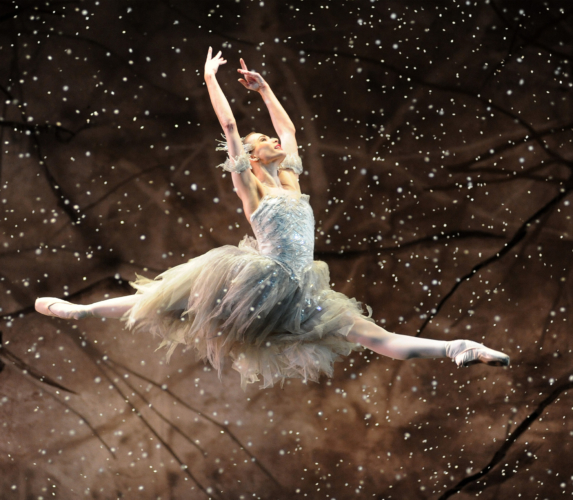 <p><em>The Nutcracker</em>: Yvette Knight as the Snow Fairy</p>. Credit: Roy Smiljanic.