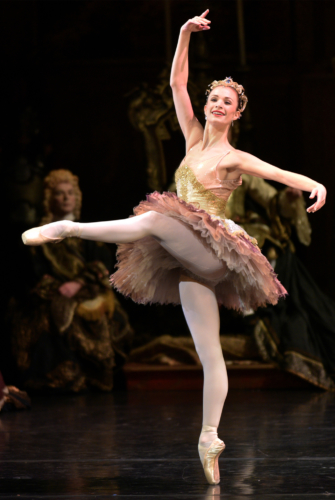 <p><em>The Sleeping Beauty</em>: Yvette Knight as the Fairy of Modesty</p> <table><tbody></tbody></table>. Credit: Phil Hitchman.