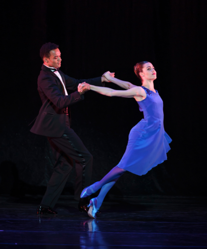 <p>Nine Sinatra Songs: Brandon Lawrence and Eilis Small</p>. Credit: © Bill Cooper.