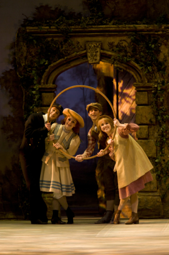 <p><em>Enigma Variations: </em>Laura-Jane Gibson as the Sailor Girl, Nicki Moffatt as the Country Girl, Christopher Rodgers-Wilson as the Sailor Boy and Oliver Till as the Country Boy</p>. Credit: Bill Cooper.