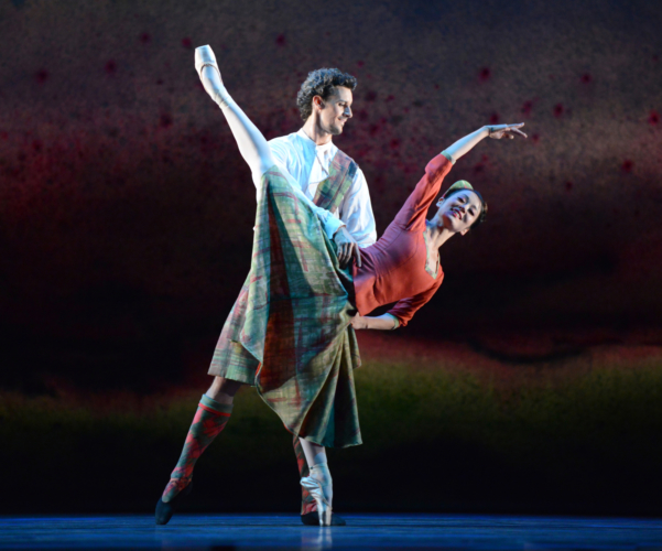 <p><em>Flowers of the Forest:</em> Nao Sakuma and Iain Mackay in 'Four Scottish Dances'</p>. Credit: Roy Smiljanic.