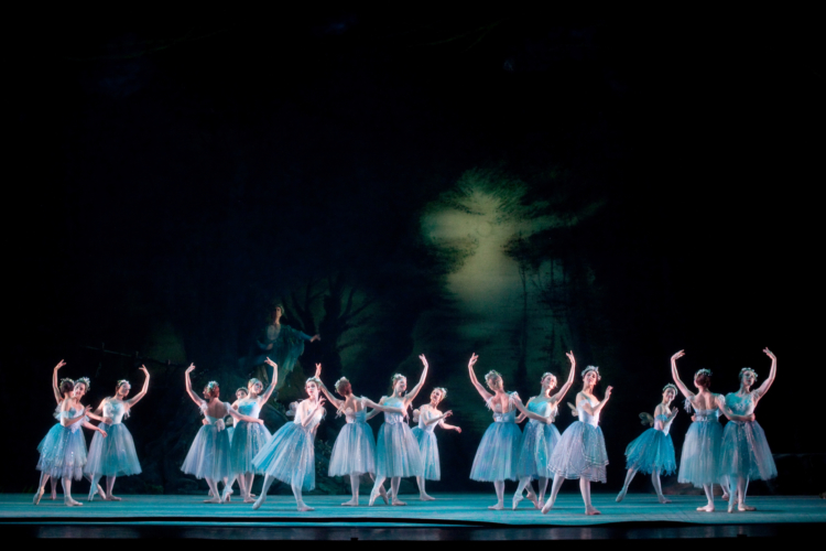 <p><em>The Dream: </em>Artists of Birmingham Royal Ballet as Fairies</p>. Credit: Bill Cooper.