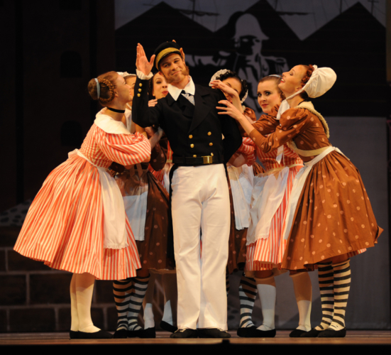 "<p><em>Pineapple Poll: </em>Robert Parker as Captain Belaye with Artists of Birmingham Royal Ballet<span class=""redactor-invisible-space""></span></p>. Credit: Roy Smiljanic."