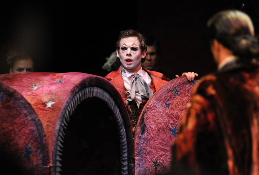 <p><em>The Nutcracker</em> from the wings: James Barton as the Magician's Assistant</p>. Credit: Roy Smiljanic.